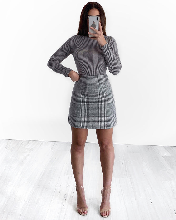 Alexandria Turtle Neck Top - Grey | Australia Women's Online Fashion Clothing | Milan The Label