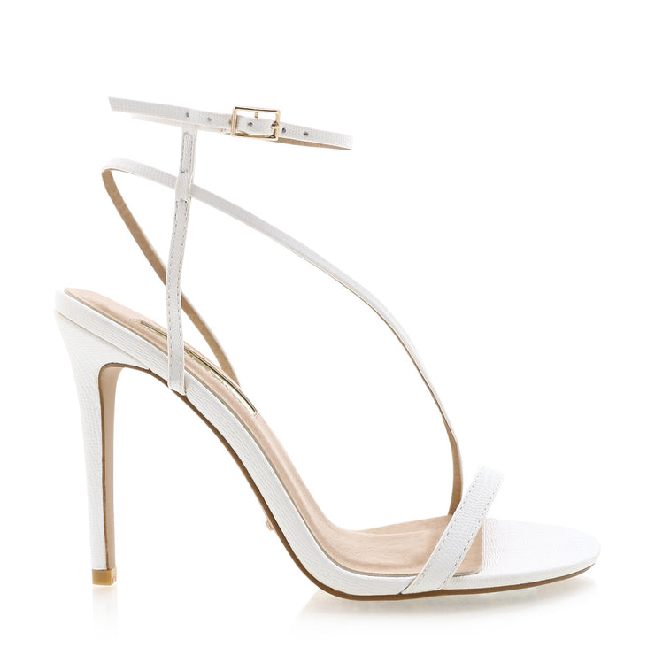 Tawnie Heels - White Scale - Milan The Label