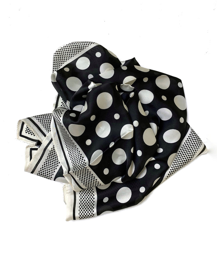 Petra Scarf - Black Dots - Milan The Label