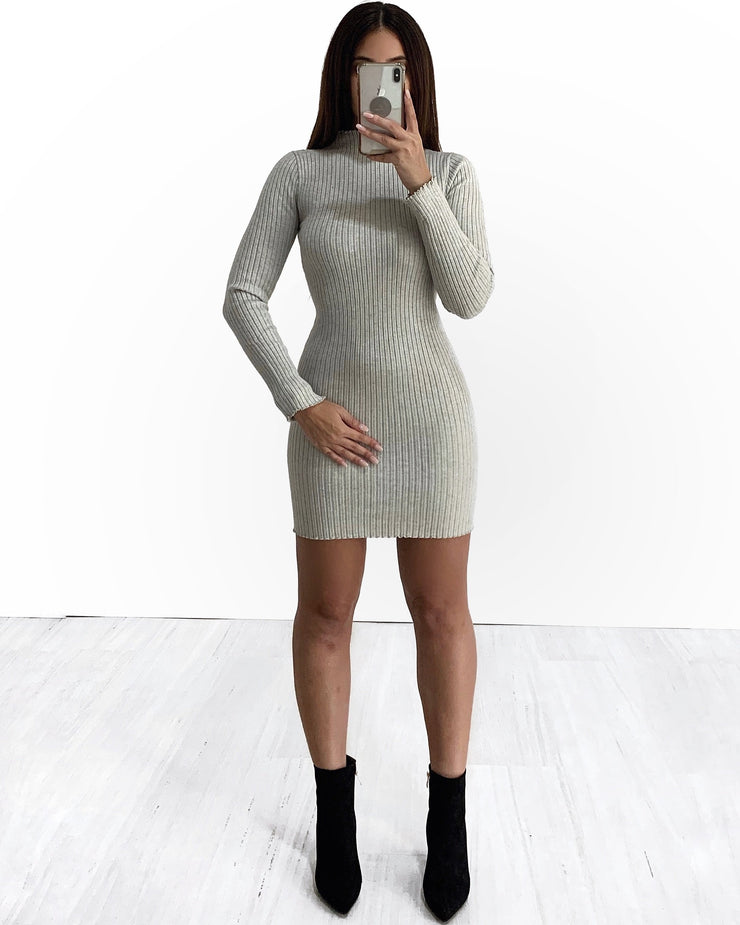 Mella Crew Neck Knit Dress