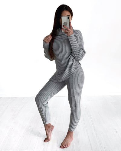 Liz Turtle Neck Set - Grey | Australia Women's Online Fashion Clothing | Milan The Label