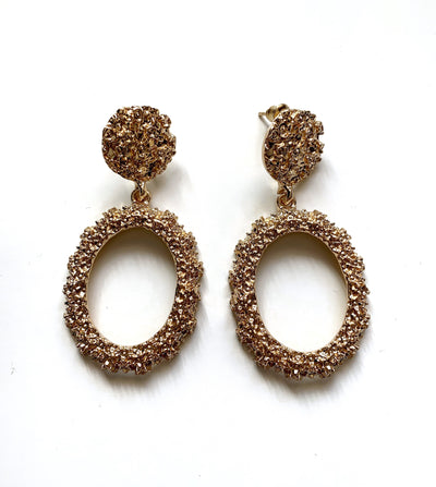 Golden Circle Earrings Small - Gold