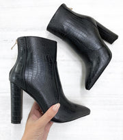 Kourt Boots - Black Croc - Milan The Label