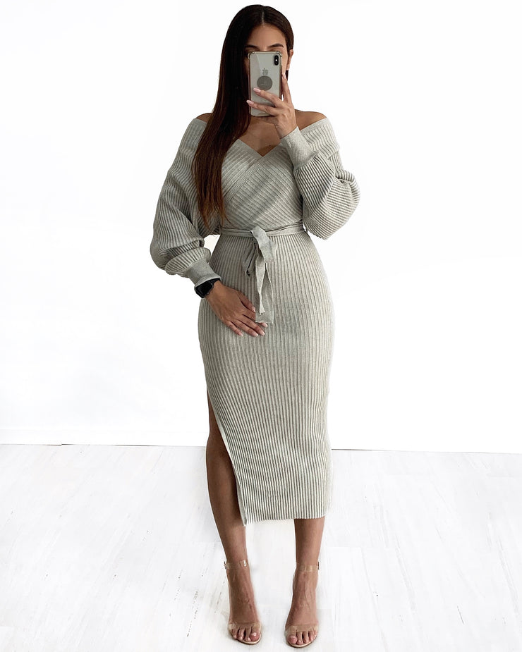 Long Venice Knit - Grey | Australia Women's Online Fashion Clothing | Milan The Label