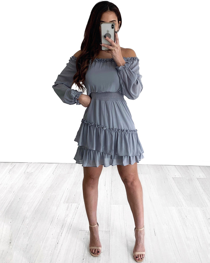 Stevie Dress - Grey/Blue | Australia Women's Online Fashion Clothing | Milan The Label