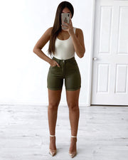 Brooklyn Jeans Shorts 2.0 - Khaki | Australia Women's Online Fashion Clothing | Milan The Label