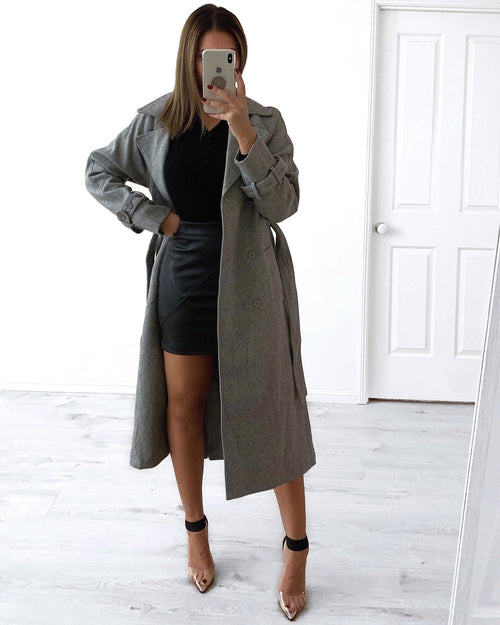 Forever Leather Skirt - Black