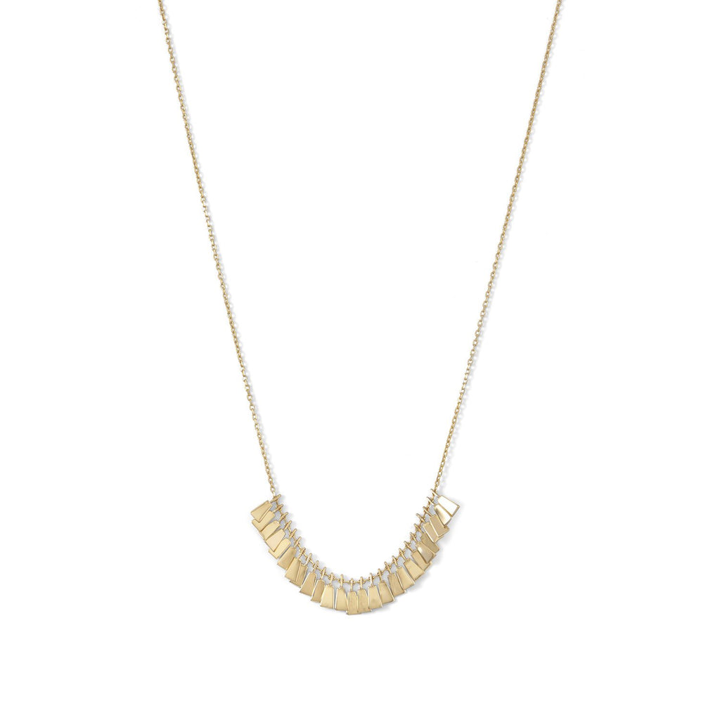 14 Karat Gold Plated Mini Tag Necklace