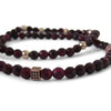 Garnet + Rose Gold Ball + Rose Gold Cage Wrap Bracelet