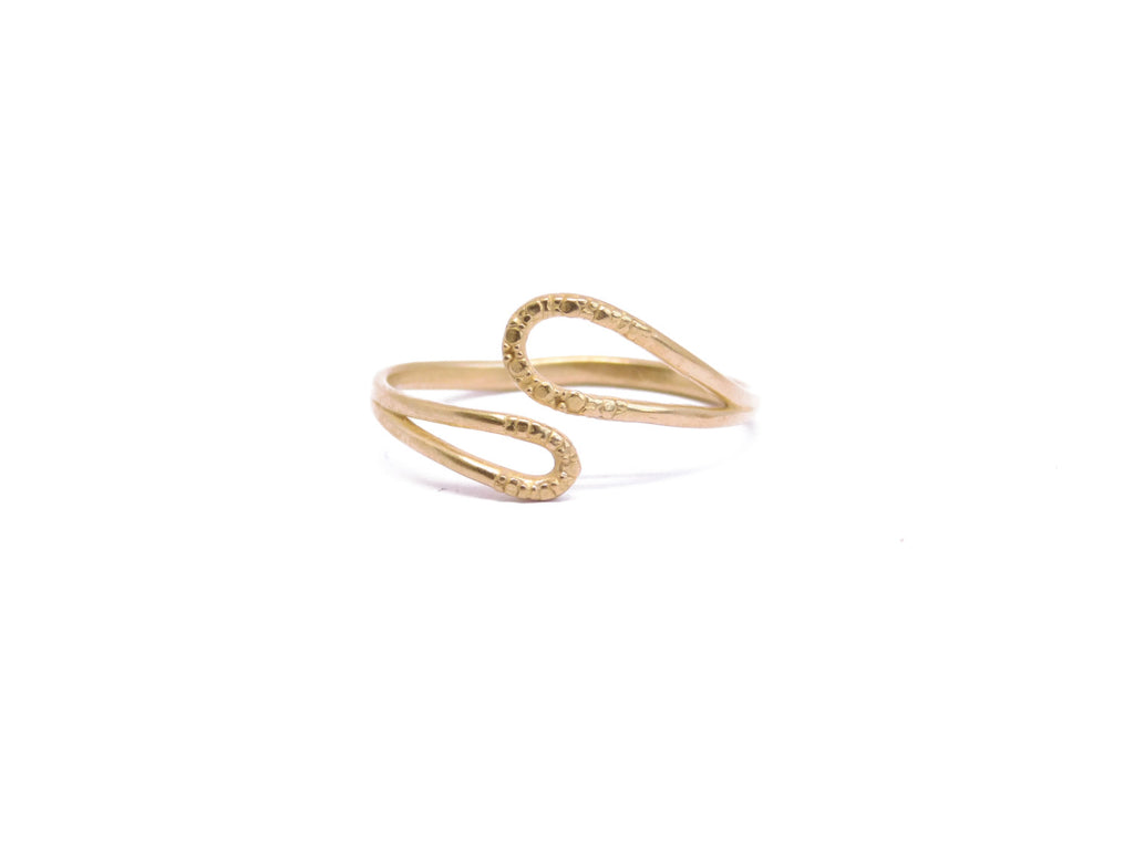14 KARAT GOLD PLATED DROP RING, CZ