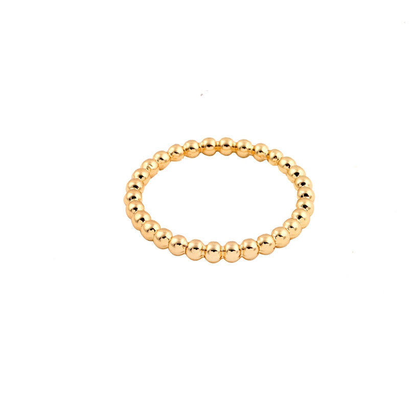 18 KARAT GOLD FILLED BUBBLE RING
