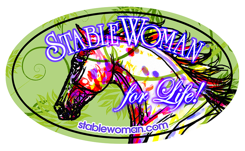 StableWoman® for Life! Vinyl Oval Sticker