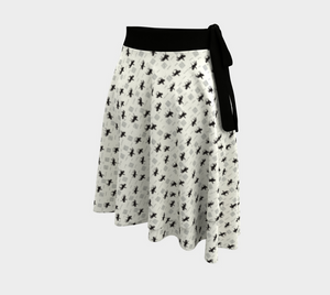 Dressage Wrap Skirt - Black / Silver