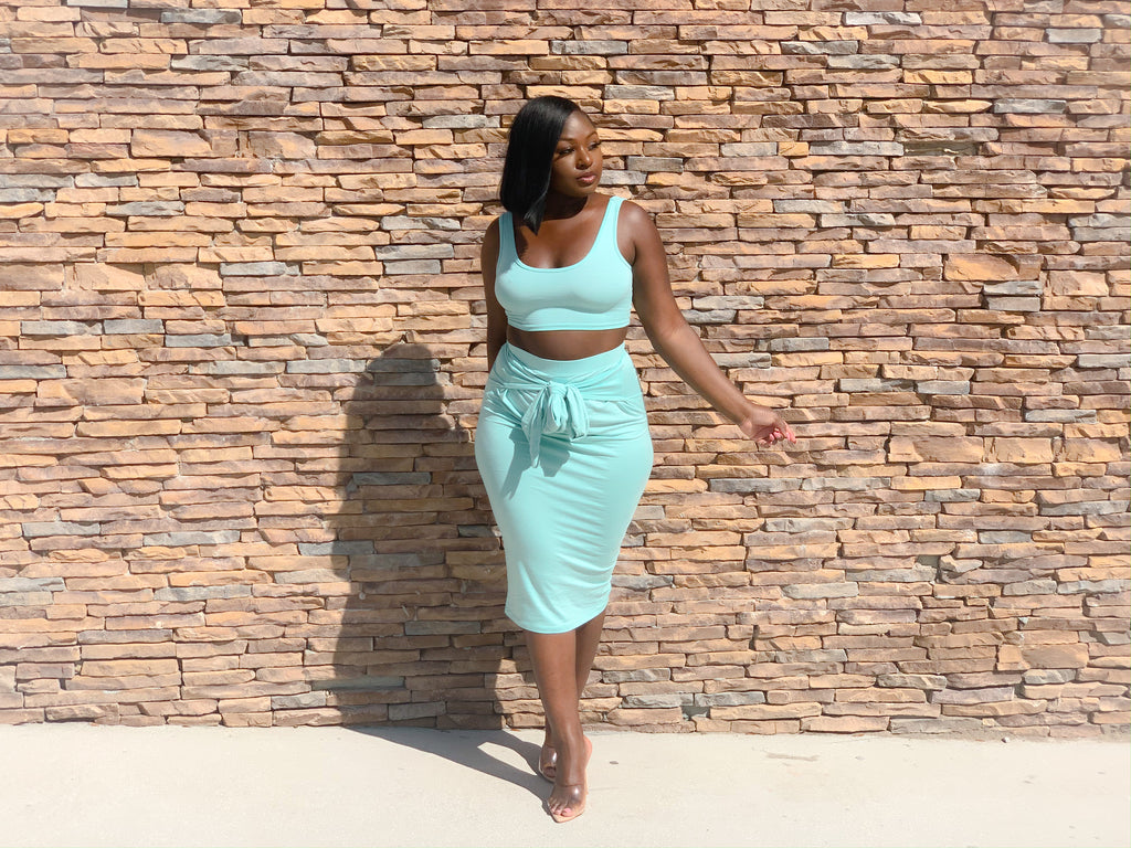 MINTY SKIRT SET (FINAL SALE)