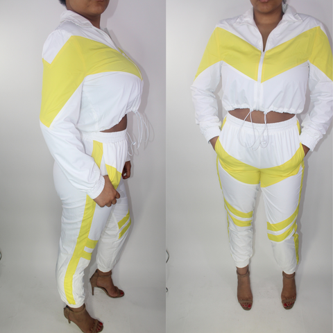 'NASCAR' YELLOW/WHITE JOGGER SET