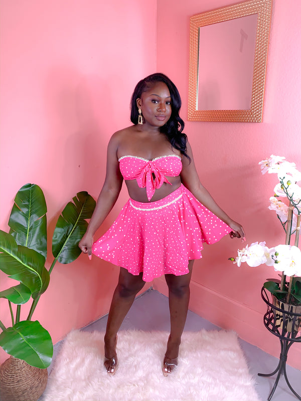 BARBIE PINK SKIRT SET (FINAL SALE)