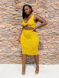 SUNFLOWER SPOTTED SKIRT SET - Moz Glam