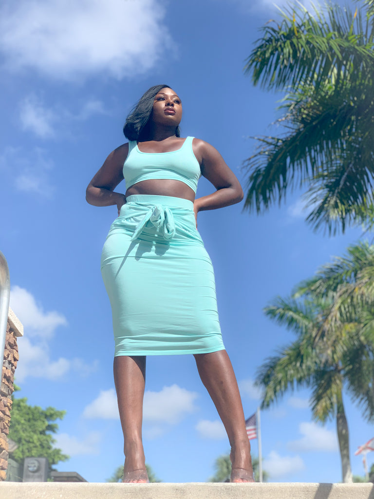 MINTY SKIRT SET