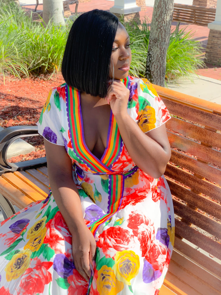 FLORAL VACATION MAXI DRESS - Moz Glam