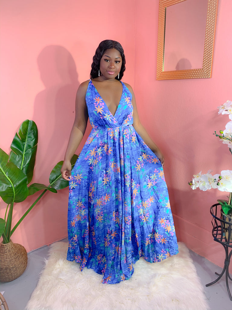 EVERYTHING BLUE FLORAL BLUE MAXI (FINAL SALE)
