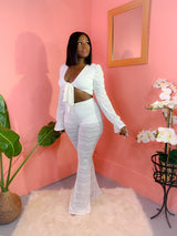 MAI TAI WHITE PANTS SET