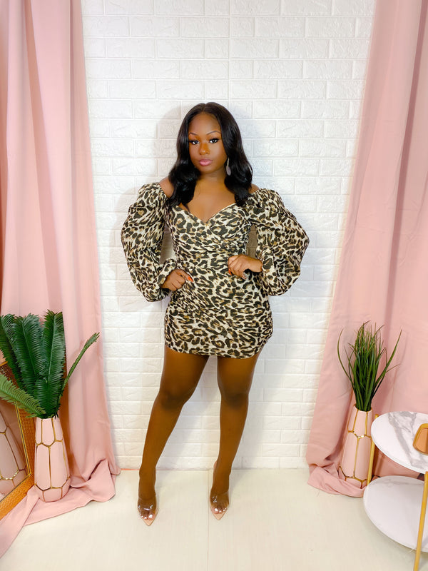 EVERYTHING SPICE LEOPARD PRINT MINI DRESS (FINAL SALE)
