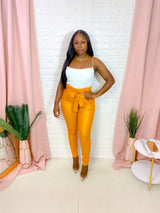 MUSTARD HIGH WAIST SKINNY PANTS