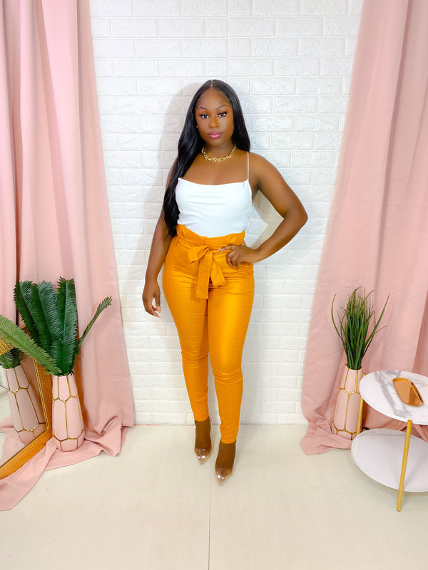 MUSTARD HIGH WAIST SKINNY PANTS (FINAL SALE)