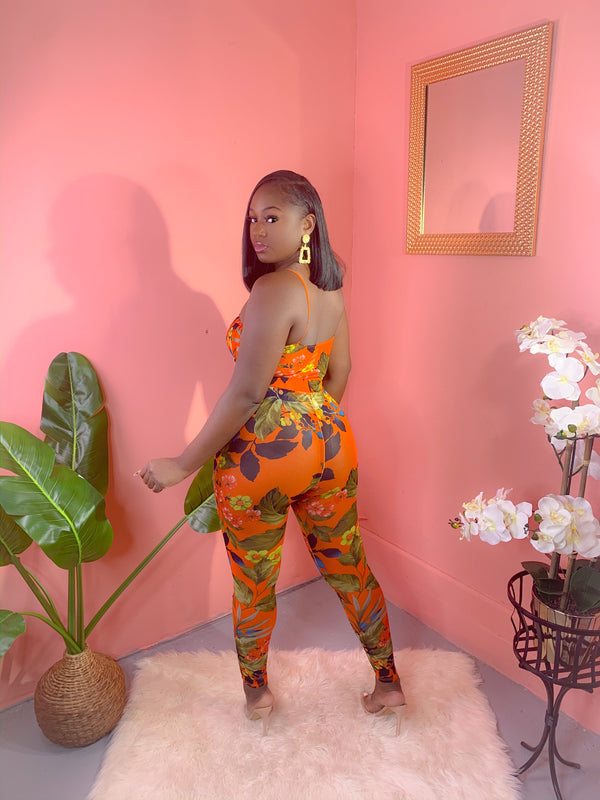 TROPICAL RUST PANTS SET