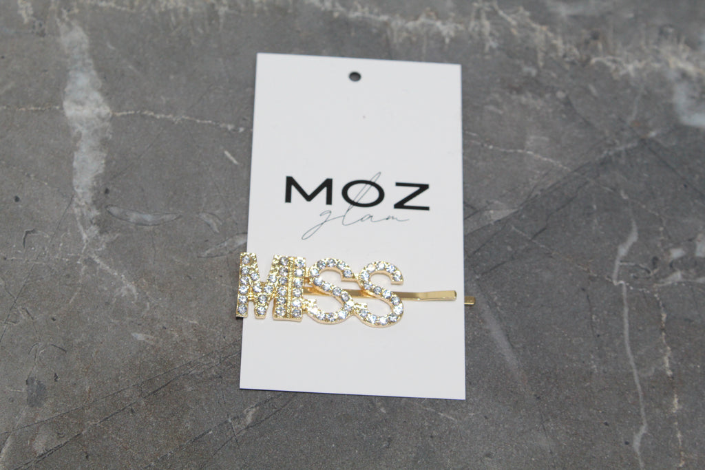 """MISS"" HAIR PIN - Moz Glam"
