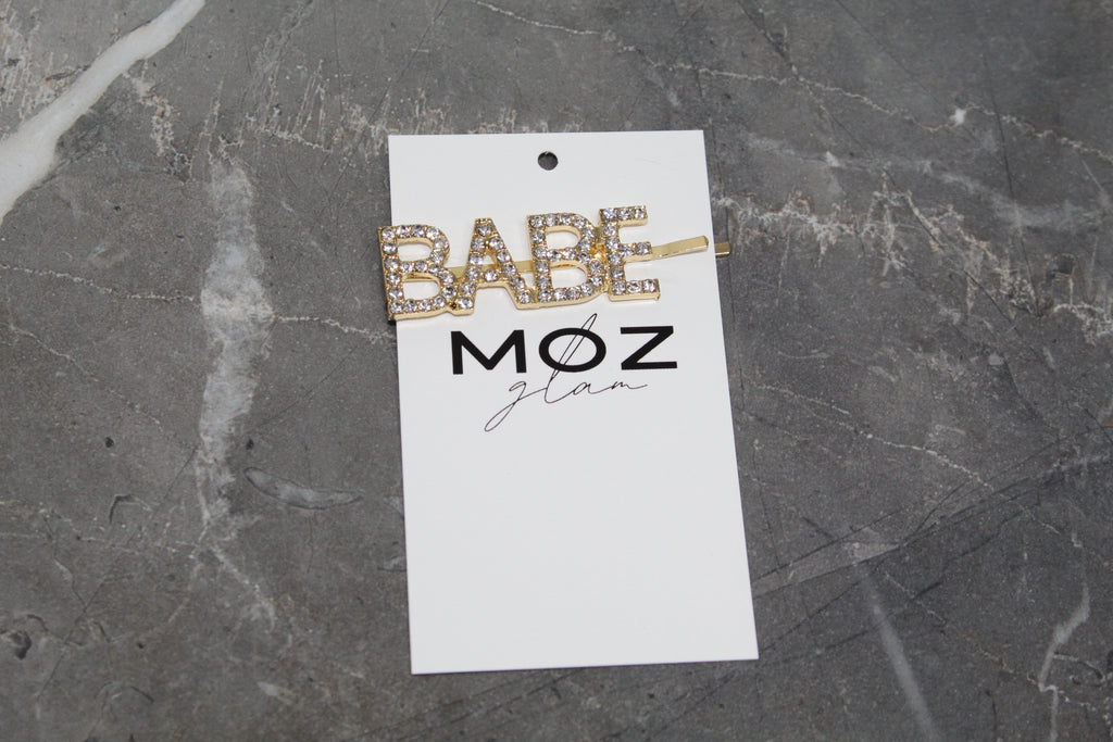 """BABE"" HAIR PIN - Moz Glam"