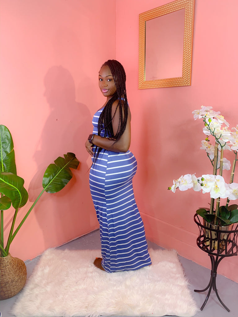 DAY OFF MAXI DRESS (BLUE)