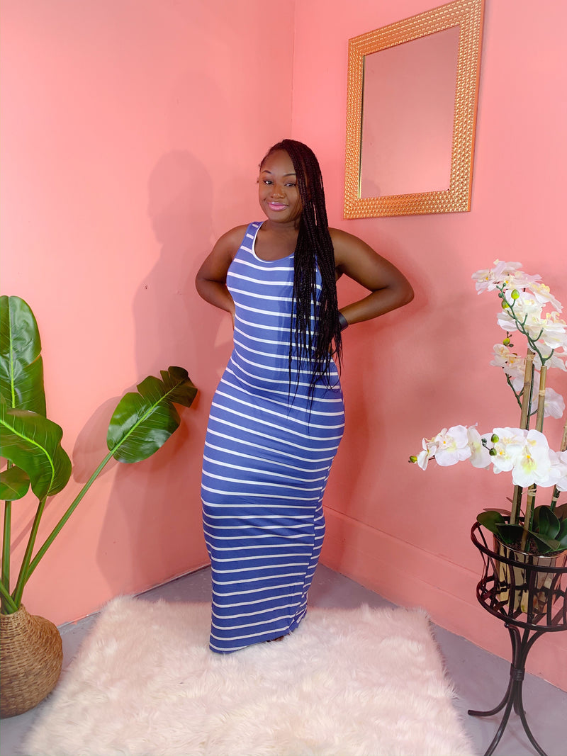 DAY OFF MAXI DRESS (BLUE) (FINAL SALE)