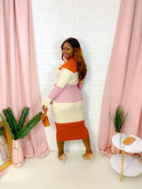COLORBLOCK SWEATER DRESS (FINAL SALE)