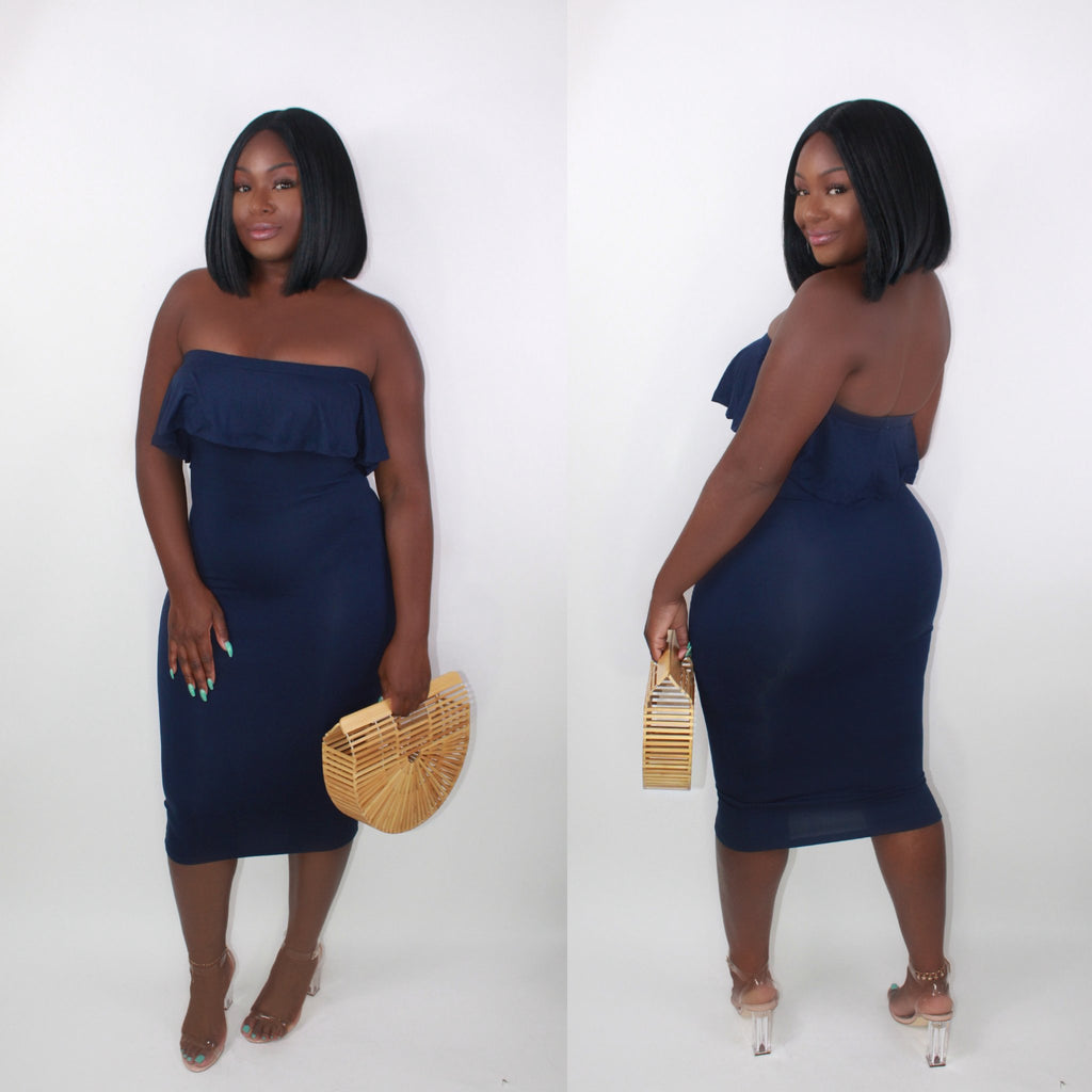 'MERMAID' DRESS BLUE