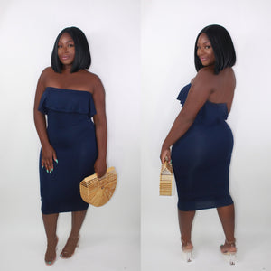 'MERMAID' DRESS BLUE - LARGE