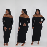 'TEMPTATIONS' SCOOP BACK MIDI DRESS