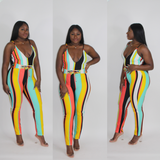 'PARTY' TRIM BANDEAU JUMPSUIT
