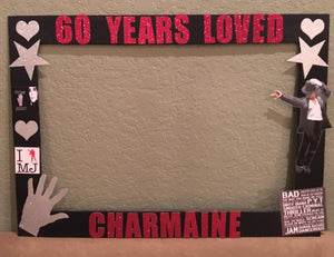 Michael Jackson- KING OF POP Themed Photo Prop Frame-wooden, Michael Jackson Party Decor