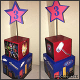 Avenger Superhero Inspired Centerpiece, Superhero Centerpiece, superhero party decorations, superhero center piece, Captain America, Iron Man
