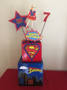 SuperGirl DC superhero Centerpiece