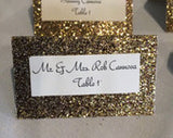 Silver, Gold, or Rainbow Glitter Place Cards, rainbow glitter table number decor, sweet 16,  quinceanera party birthday