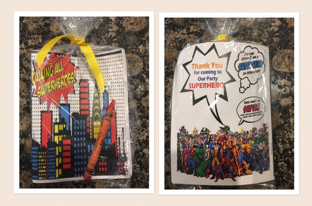Superhero Party Favor Coloring Books