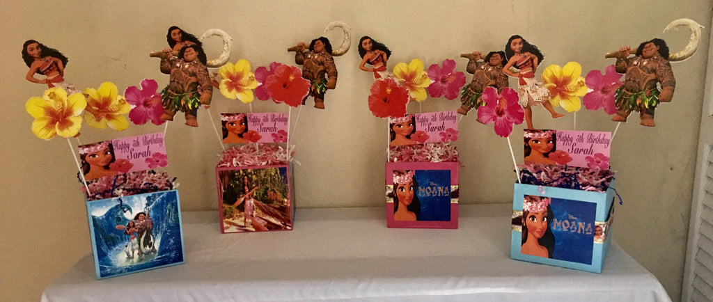 Moana Inspired Centerpiece Moana Party Decorations Moana