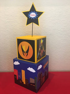 Wolverine superhero Inspired Centerpiece Batman, Superman, deadpool, superhero party supplies, superhero party decorations, superhero event