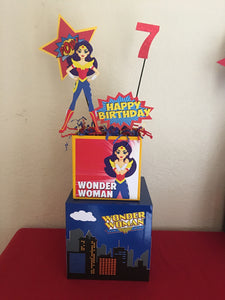 Wonder Women SuperHero Girl Centerpiece