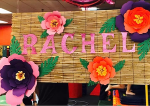 Moana Inspired backdrop, Hawaii backdrop, Custom Name Flower Backdrop, Giant Flower Backdrop