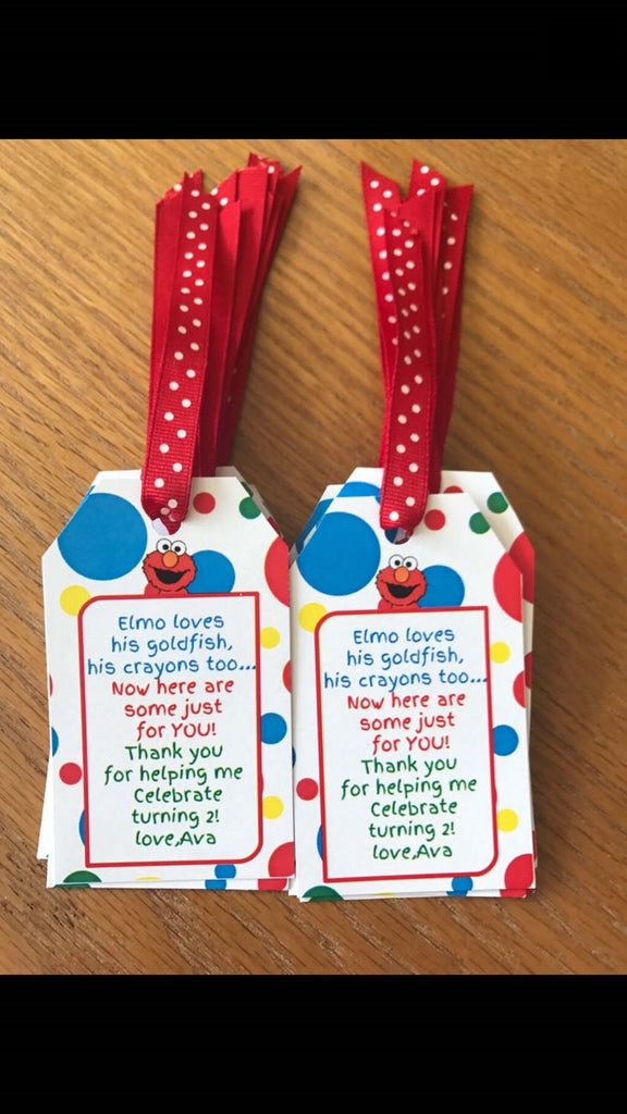 Elmo Favor tags, Sesame Street party tags, Sesame Street party supplies, Sesame Street party, Sesame Street favor tags, Elmo favor Tags
