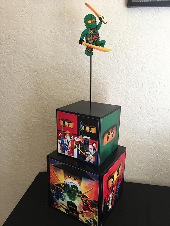 Lego Ninjago Inspired Centerpiece Lego Ninjago Party