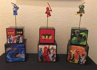 Lego Ninjago Inspired Centerpiece, lego ninjago party supplies, lego ninjago party decorations